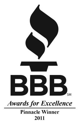 Better Business Bureau 2011 BBB Pinnacle Award Winner