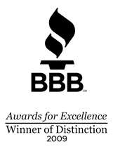 Southeast Texas Trees LLC is recipient of the 2009 BBB Awards For Excellence Winner of Distinction